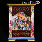 Chinese antique Qianlong The Dream of Red Mansion Figure pattern pen container