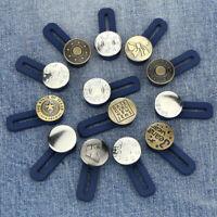 Jeans Retractable Button Adjustable Detachable Extended Button For Jeans 3/10Pcs