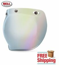 BELL CUSTOM 500 R/T SHORTY SILVER IRIDIUM MIRROR BUBBLE FACE SHIELD VISOR NEW
