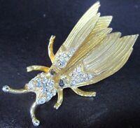 HATTIE CARNEGIE Trembler Figural Fly Bug Vintage Pin