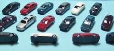N Scale-Model Railroad Vehicles-Mixed Styles in 6 Colors--16 Cars per Set-A