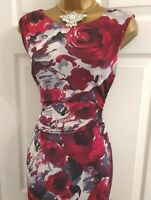 🎀 Phase Eight Yasmin Rose Floral Party Summer Wedding Evening Occasion Dress 12