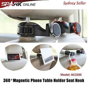 Magnetic Car Back Seat Headrest Hanger Holder Hook Phone Tablet Stand Mount AD30