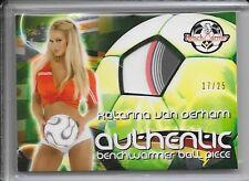 2006 Benchwarmer World Cup Katarina Van Derham Soccer Ball # 17/25 1:2400 Packs