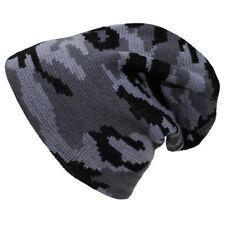 Camo Beanie coole warme Winter Mütze Flecktarn-Muster Tarnfarben modischer Style
