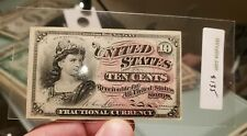 1863 Ten 10 Cents Fractional Currency Us Currency Unc Bill