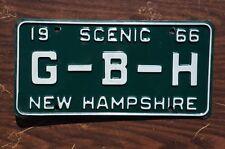 1966 Scenic New Hampshire Vanity License Plate  G - B - H