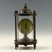 European Exquisite Brass &Glass Classical Mechanical  Clock