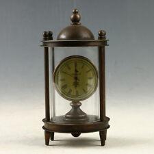 European Exquisite Brass &Glass Classical Mechanical  Clock  RN