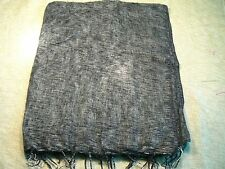 Hand woven yak wool shawl acrylic mixed / fular lana de yak con acrílico