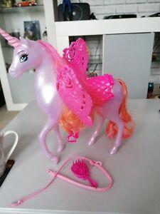 Barbie Doll  Dreamtopia Purple Unicorn Horse orange Hair