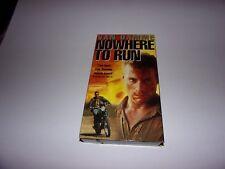 Nowhere to Run (VHS, 1993, Closed captioned) Van Damme, Rosanna Arquette