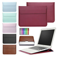 "For MacBook Air/Pro/Retina 11""12""13""15"" Slim Leather Pouch Sleeve Bag Case Cover"
