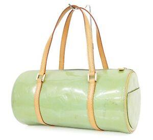 Authentic LOUIS VUITTON Bedford Baby Blue (Green) Vernis Hand Bag Purse #35909A