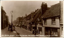 Hastings. All Saints Street & Admiral Sir Cloudesley Shovell's House.