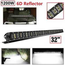 "1200W 32""inch LED Light Bar Flood Spot Combo Work Lamp For Offroad ATV UTV 4WD"