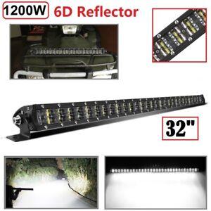"""1200W 32""""inch LED Light Bar Flood Spot Combo Work Lamp For Offroad ATV UTV 4WD"""