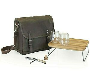 Insulated Wine And Cheese Cooler Bag For Two