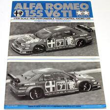 Vintage Tamiya Alfa Romeo 155 v6 Ti Manual 58128