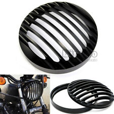 """5 3/4"""" Headlight Grill Covers For 2004-2015 Harley Davidson Sportster XL883 1200"""