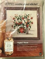 PIPPIN'S PICTURE 1974 vintage Paragon Crewel Embroidery Kit strawberries