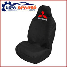 MITSUBISHI L200 Branded Heavy Duty Front Seat Cover (black) With Logo