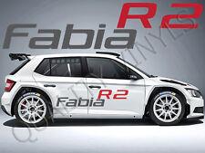 P34 SKODA FABIA R2 logo Adesivi Decalcomanie Grafiche laterali