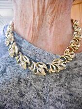 Authentic Vintage Lisner Gold Tone 1950's Tulip Motif Necklace Adjustable