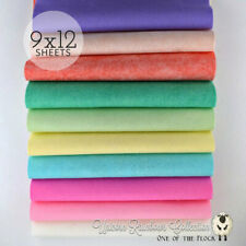 "UNICORN RAINBOW Felt Collection Merino Wool Blend Felt, Ten 9"" X 12"" Sheets"