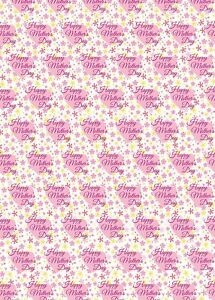 2 x Happy Mother's Day Wrapping Paper Pink Hearts Giftwrap  Mum (PA)