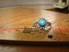 Vintage Sterling silver ring w/ turquoise stone- SW influence