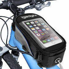 Polyester Bicycle Frame Bags with Phone Holder
