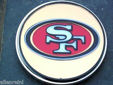 San Francisco 49ers Chrome Acrylic Laser Cut Trailer Hitch Cover Mirrored Finish