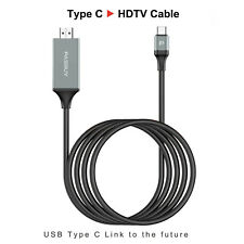 PASBUY 66H Type C To HDMI HDTV AV Cable Adapter-Samsung Galaxy S8/S8+ MacBook G