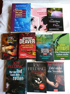 Bücher Paket Krimis Thriller aus den USA, 10 Bücher, Jeffery Deaver u.a.