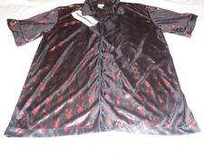 Playboy Black / Red Shirt Adult Large Button Front Vintage
