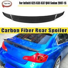 For Infiniti Sedan G25 G37 Q40 4Dr Carbon Fiber Rear Trunk Spoiler Wing 07-15