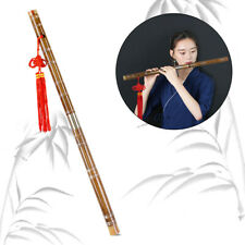 More details for horse chinese bamboo flute dizi d/e/f/g key professional w/ bag membrane knot