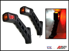 2 X Led Side Marker Lights Stalk Outline Lamp Indicator Trailer Truck 12/24v