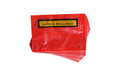 1000 RED Invoice Enclosed Document Envelope Sticker Label 115mm x 165mm!