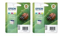 2 X Original Epson T0530 S020110 S020193 Color Stylus Photo 700 750 Ex Packaging