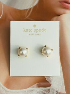 Kate Spade New York White Pearl Stud Earrings Free Shipping