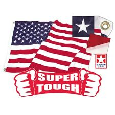 Super Tough Tricot Poly American Flag, 5' x 8', Made in USA