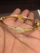 Vintage Dubai Handmade Bracelet Bangle In Solid Certified 22Karat Yellow Gold