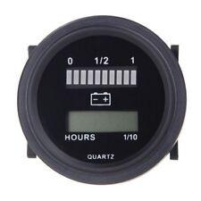 O9R6 12V/24V/36V/48V/72V DEL Digital Batterie Indicateur de charge avec heure M