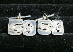 Pair Of Hallmarked Sterling Silver Chain Link Cufflinks 6g