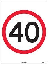 Speed Limit 40kmh Traffic 40km Safety Sign 600x450mm Metal TC463LM