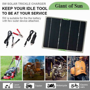 Pro10W Solar Panel 12V Trickle Charge Battery Charger Kit Maintainer Boat RV Car