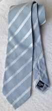 NWOTs Giorgio Armani (top-of-the-line) label blue-on-silver striped silk tie