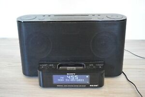 Sony DAB Radio Docking System XDR-DS12iP iPod/iPad Alarm Tested & Working